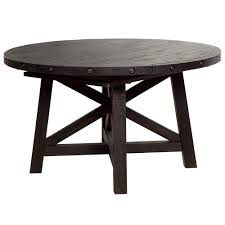 sheridan round extension pine dining table wood metal dining tables abode company