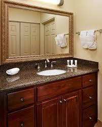 White Wood Bathroom Vanity Interior Bathroom Interior Design With Dark Brown Wood Bathroom