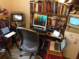 Geeks home office workspace Programmer One Of The Biggest Challenges In Moving Was Relocating My Workspace Spend Lot Of Time In My Home Office Since Work From Home For The College Info Geek Think We Have Reached Peak Cyberpunk Desk The Life Of The