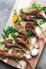 Turmeric Garlic Pan Fried Lamb Chops