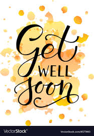 Get Well Soon Poster Hand Sketched Inspirational Quote Get Well Soon