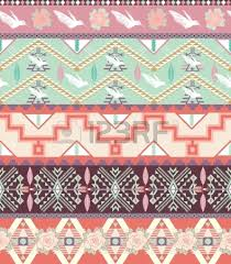 pastel aztec pattern wallpaper. Seamless Pastel Aztec Pattern With Birds And Roses Stock Vector Wallpaper
