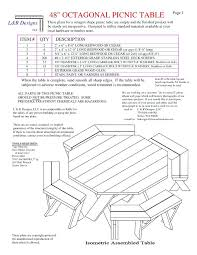 octagon picnic table plans octagon picnic table plans free walk wood