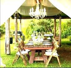 image for battery operated outdoor chandelier