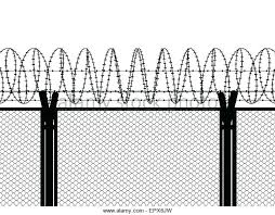 wire fence transparent. Transparent Fence Barbed Wire Top Wall Stock Photos