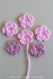 Free Crochet Flower Patterns Delectable Simple Crochet Flower Pattern And Tutorial 48 Easy And Simple Free