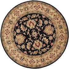 safavieh heritage collection hg957a handcrafted traditional oriental black and gold wool round area rug 6