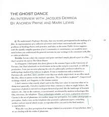 derrida ghost dance jacques derrida s ghost dance interview public 2 1989 60 67
