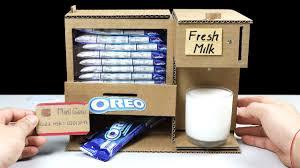 amazing diy oreo and fresh milk vending machine mini gear