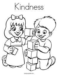 Free printable coloring pages for kids! Kindness Coloring Page Twisty Noodle