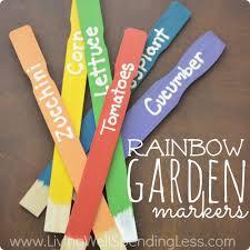 diy rainbow garden markers diy garden plant markers plant labels diy home decor