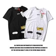 Off Ow White Men T Shirts Casual Tops Vancouver Limited Marble Splash Tee Clothing