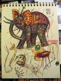Page in John Kurtz Sketchbook