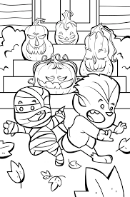 Small Picture Toddler Halloween Coloring Pages Printable Image Album Images