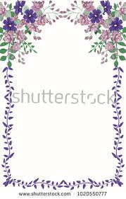 Small Card Template Floral Vintage Invitation In Small Flowers Greeting Card Template