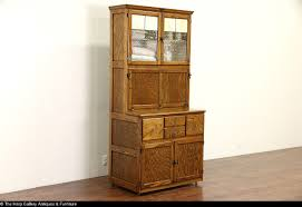 Hoosier Kitchen Cabinet Hygena English 1930039s Oak Vintage Hoosier Kitchen Cupboard Or