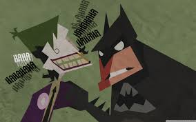 Batman And Joker Cartoon Ultra Hd Desktop Background