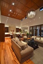 wood ceiling lighting. Impressive High Wooden Ceiling With Artistic Pendant Lights For Modern Living Room Design Ideas Wood Lighting