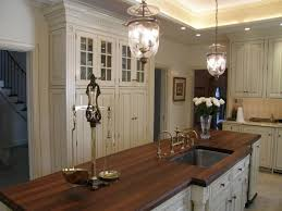 entrancing dark brown kitchen wood countertops features stainless steel undermount sink and white wooden kitchen cabinets and large white cabinets with