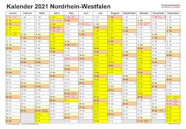 Kalender 2021 nrw din a4 zum ausdrucken : Kalender 2021 Nrw Ferien Feiertage Pdf Vorlagen