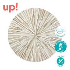 round patchwork rug