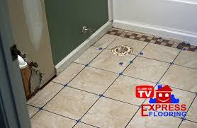 water under bathroom floor tile