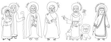 Look To Him And Be Radiant Saints Coloring Pages And Murals The