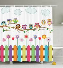 Cool shower curtains for kids Amazon Com 12 Cute Country Owls Design Homebnc 22 Best Kids Shower Curtain Ideas For 2019
