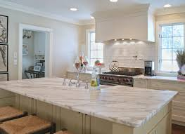 Kitchens With White Countertops Carrera White Marble Countertops