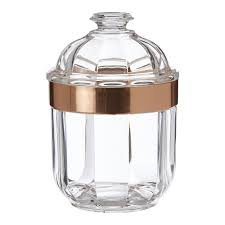 image is loading small acrylic canister clear rose gold bathroom salts
