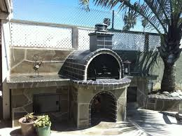 The Keyes Black Wood Fired Brick Pizza Oven in Sunny California.