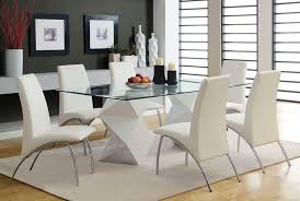 Glass Dining Room Furniture Of Well Glass Dining Room Table And Chairs  Dining Trend