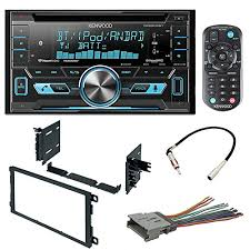 car stereo radio cd player receiver install mounting kit wire package includes kenwood dpx502bt cd receiver gmk 422 dash kit double din dash kit gwh 416 wire harness gm 6 radio antenna adapter