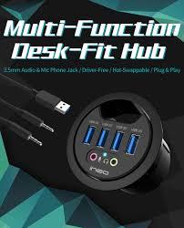 description specifications description ineo grommet desk fit usb 3 0 hub