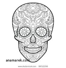 Sugar Skull Coloring Pages Girls Coloring Book Danaverdeme
