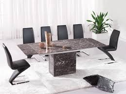 brown extending dining table 6 z chairs marble