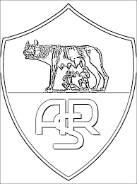 Logo Of As Roma Coloring Pages