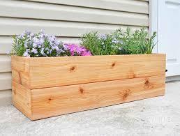 diy modern cedar planter this easy cedar planter and many more amazing diy planter inspiration