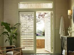 window coverings for french doors brilliant roman shade on door with stained glass along 1