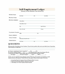 Free Employment Verification Form Template Delectable SelfEmployment Ledger 48 FREE Templates Examples