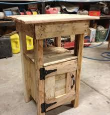 furniture do it yourself. Pallet-nightstand (8) Furniture Do It Yourself