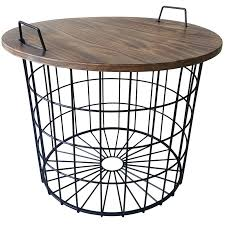 round removable wood top table with