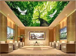 Großhandel Benutzerdefinierte Fototapete 3d Decke Wandbilder Tapete