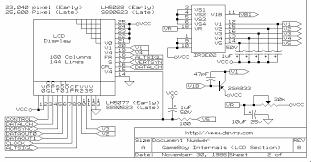 electronic circuit schematics gameboy lcd schematic