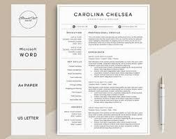 Modern Resume Etsy Modern Resume Template Cv Template Cover Letter Word Etsy