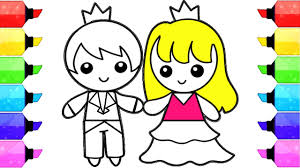 Boy And Girl Coloring Pages How To Draw And Color Prince And