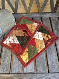 238 best mug rugs and hot pads images on Pinterest | Place mats ... & Fall Friendship braid Mug Rug Autumn Prints Candle by knjStudio Adamdwight.com