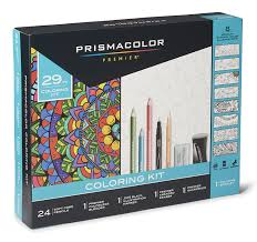 coloring sets. Brilliant Sets Amazoncom Prismacolor 1978739 Premier Pencils Adult Coloring Kit With  Blender Art Marker Eraser Sharpener U0026 Booklet 29 Piece Office Products For Sets R
