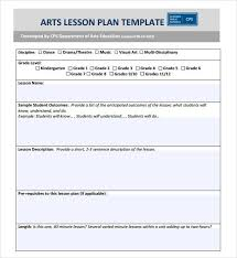 Lesson Plans Formats Elementary Elementary Art Lesson Plan Template Yadonavi