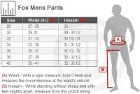 Fox Youth Boots Size Chart Sizing Chart For Youth